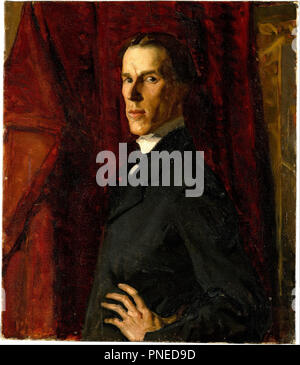 Self-portrait. Date/Period: Ca. 902. Painting,oil on canvas. Height: 458 mm (18.03 in); Width: 404 mm (15.90 in). Author: HUGH RAMSAY. - Stock Photo