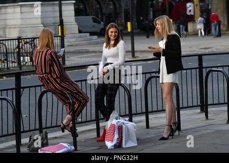 London, UK. 21st Sept 2018. London Fashion Week Festival at 180 Strand, London, UK. 21 September 2018. Credit: Picture Capital/Alamy Live News - Stock Photo