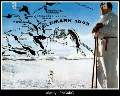 Prod DB © Rank Organisation / DR HEROS DE TELEMARK (THE HEREOS OF TELEMARK) de Anthony Mann 1965 USA avec Kirk Douglas ski, tempete - Stock Photo
