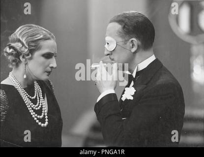 Original film title: DOCE HOMBRES Y UNA MUJER. English title: TWELVE MEN AND A WOMAN. Year: 1934. Director: FERNANDO DELGADO. Stars: MARIANO ASQUERINO; IRENE LOPEZ HEREDIA. Credit: STAR FILMS S.A. / Album - Stock Photo