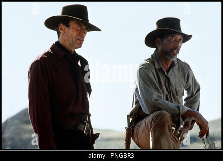 Prod DB © Malpaso - Warner Bros / DR IMPITOYABLE (UNFORGIVEN) de Clint Eastwood 1992 USA avec Clint Eastwood et Morgan Freeman western, revolver, cow-boys, bandana, - Stock Photo