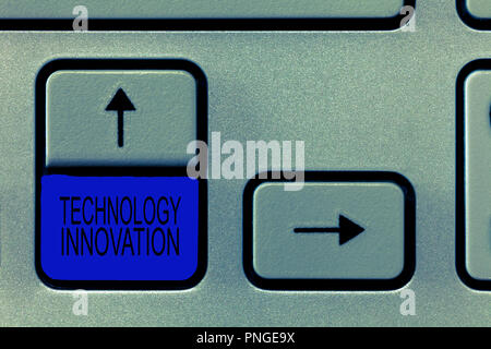 Word writing text Technology Innovation. Business concept for advanced net connected devices a Creative Technique. - Stock Photo