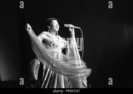 Concert of Aretha Franklin at Olympia, 1971 - Stock Photo