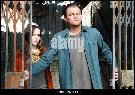 Prod DB © Warner Bros. Pictures - Legendary Pictures / DR INCEPTION de Christopher Nolan 2010 USA avec Ellen Page et Leonardo DiCaprio grille - Stock Photo