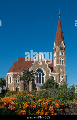 Church of Christ (Christus Kirche) in Windhoek, Namibia - Stock Photo