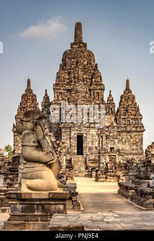 Candi Sewu, Prambanan temple complex, Yogyakarta, Java, Indonesia - Stock Photo