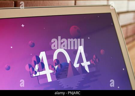 404 error image screen - Stock Photo