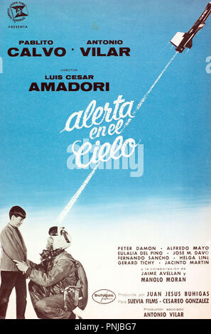 Original film title: ALERTA EN EL CIELO. English title: ALERTA EN EL CIELO. Year: 1961. Director: LUIS CESAR AMADORI. Credit: BUHIGAS FILMS / Album - Stock Photo