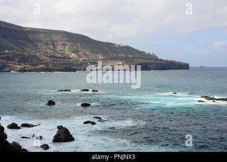 View from Mirador El Atlante famous place in Las Palmas, Gran Canaria, Spain - Stock Photo
