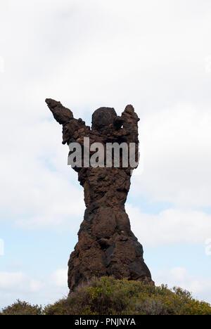 Las Palmas, Gran Canaria, Spain - 04 January, 2018. Del Atlante is an artwork by a Spanish sculptor, Tony Gallardo, erected here in 1986. - Stock Photo