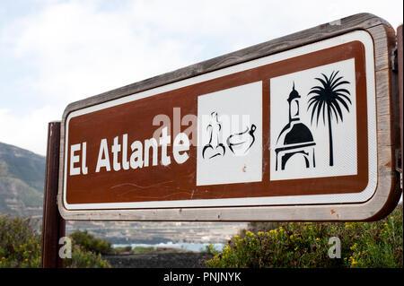 Las Palmas, Gran Canaria, Spain - 04 January, 2018. Mirador El Atlante famous viewpoint in Las Palmas, - Stock Photo