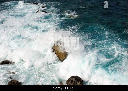 Beautiful view on Atlantic ocean from mirador El Atlante in  Las Palmas , Gran Canaria, Spain, - Stock Photo