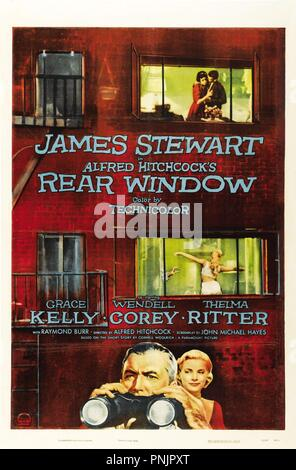Original film title: REAR WINDOW. English title: REAR WINDOW. Year: 1954. Director: ALFRED HITCHCOCK. Credit: PARAMOUNT PICTURES / Album - Stock Photo