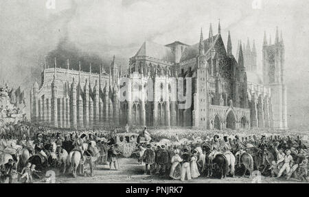 Coronation of King William IV, and Queen Adelaide, 8 September 1831 - Stock Photo