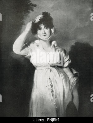 Caroline of Brunswick, Queen consort of the United Kingdom, wife of King George IV, - Stock Photo