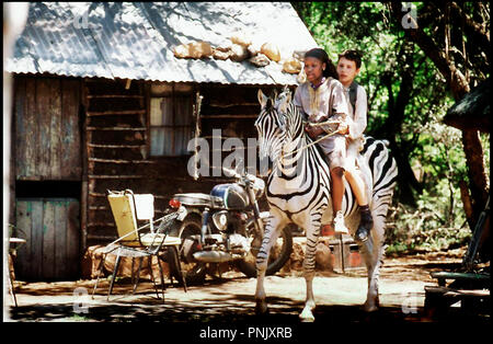 Prod DB © AAA Pictures-Enigma Pictures / DR LA LEGENDE DE DARAN (DE ZEVEN VAN DARAN, DE STRIJD OM PAREO ROTS) de Lourens Blok 2008 HOL Ketrice Maitisa et Johann Harmse amitie, enfants, Afrique, Afrique du Sud, Namibie, animal, zebre The Seven of Daran: Battle of Pareo Rock - Stock Photo