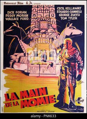 Prod DB © Universal / DR LA MAIN DE LA MOMIE (THE MUMMY'S HAND) de Christy Cabanne 1940 USA affiche française 120x160 de Rene Lefebvre horreur, fantastique,  Code N¡ 1078 - Stock Photo