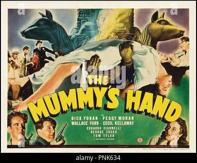 Prod DB © Universal / DR LA MAIN DE LA MOMIE (THE MUMMY'S HAND) de Christy Cabanne 1940 USA  affiche US half-sheet horreur, fantastique,  Code N¡ 1078 - Stock Photo