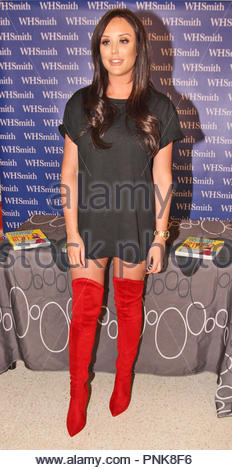 Charlotte Crosby's 30 Day Blitz - her first book signing at  WH Smith, Intu, The Potteries shopping centre Stoke On Trent on Thursday 11 January 2017 - Stock Photo