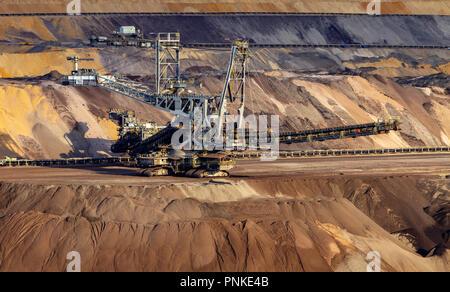 A bucket-wheel excavator used in strip mining. - Stock Photo