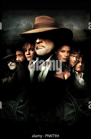 Prod DB ©Ê20th Century Fox / DR THE LEAGUE OF EXTRAORDINARY GENTLEMEN de Stephen Norrington 2003 USA avec Tony Curran, Naseeruddin Shah, Shane West, Sean Connery, Peta Wilson, Jason Flemyng et Stuart Townsend visuel d'affiche, dessin, illustration,  d'apres les B.D. de Alan Moore et Kevin O'Neill - Stock Photo