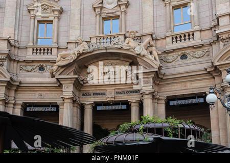 Milan,  Italy - September 21,2018: Starbucks Reserve Roastery in Milan, Italy.