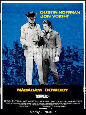 Prod DB © United artists / DR MACADAM COWBOY (MIDNIGHT COWBOY) de John Schlesinger 1969 USA affiche - Stock Photo