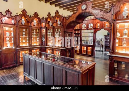 Former Pharmacy, Alcázar de Jerez, Jerez de la Frontera, Cádiz province, Andalusia, Spain - Stock Photo