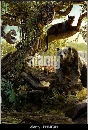 Baloo King Louie Mowgli The Jungle Book 1967 Stock Photo