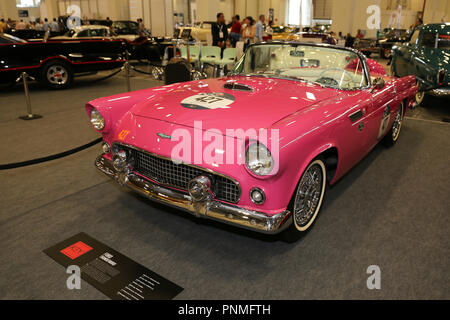 ISTANBUL, TURKEY - JULY 01, 2018: Ford Thunderbird 1956 display at Istanbul Classic Automobile Festival - Stock Photo