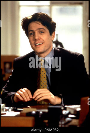 Prod DB © Simian Films - Castle Rock / DR MICKEY LES YEUX BLEUS (MICKEY BLUE EYES) de Kelly Makin (scenes additionnelles: Hugh Grant et Carl Gottlieb) 1999 USA / GB avec Hugh Grant portrait - Stock Photo