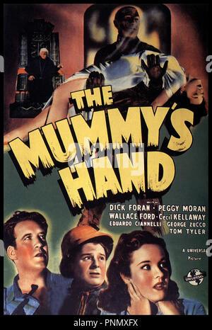 Prod DB © Universal / DR THE MUMMY'S HAND de Christy Cabanne 1940 USA   affiche, science-fiction - Stock Photo