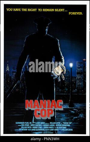 Prod DB © Shapiro-Glickenhaus Entertainment / DR MANIAC COP de William Lustig 1988 USA affiche americaine horreur - Stock Photo