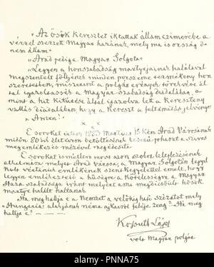 Image  from page 17 of 'Aradi vértanúk albuma . Szerkesztette Varga Ottó. [With portraits, facsimile of letters, etc.] Harmadik, btett kiadás' . - Stock Photo