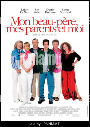 Prod DB © Universal Pictures - DreamWorks SKG / DR MON BEAU-PERE, MES PARENTS ET MOI (MEET THE FOCKERS) de Jay Roach 2004 USA avec Dustin Hoffman sequelle,  autres titres: Meet the Fokkers (USA) (working title) Meet the Parents 2 (USA) (working title) mon beau-pere mes parents et moi (FRA sans ponctuation) - Stock Photo
