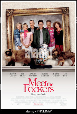 Prod DB © Universal Pictures - DreamWorks SKG / DR MON BEAU-PERE, MES PARENTS ET MOI (MEET THE FOCKERS) de Jay Roach 2004 USA affiche sequelle,  autres titres: Meet the Fokkers (USA) (working title) Meet the Parents 2 (USA) (working title) mon beau-pere mes parents et moi (FRA sans ponctuation) - Stock Photo