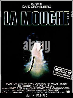 Prod DB © Brooksfilms / DR LA MOUCHE (THE FLY) de David Cronenberg 1986 USA avec Jeff Goldblum teleportation, science fiction, lumiere affiche francaise - Stock Photo