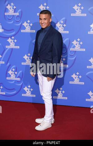 London, UK. 21st Set 2018. Jahmene Douglas at the National Lottery Awards 2018 at the BBC Television Centre, London. Picture: Steve Vas/Featureflash Credit: Paul Smith/Alamy Live News