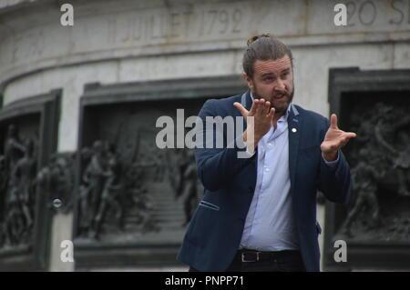 Paris, France. 22 september 2018. Global Day of the Deaf people - Journee mondiale des Sourds (Paris, place de la République). 22 september 2018  ALPHACIT NEWIM / Alamy Live News - Stock Photo
