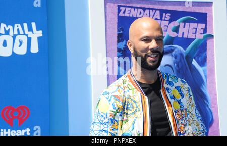 Los Angeles, CA, USA. 22nd Sep, 2018. Common at arrivals for SMALLFOOT Premiere, Regency Village Theatre - Westwood, Los Angeles, CA September 22, 2018. Credit: Elizabeth Goodenough/Everett Collection/Alamy Live News - Stock Photo