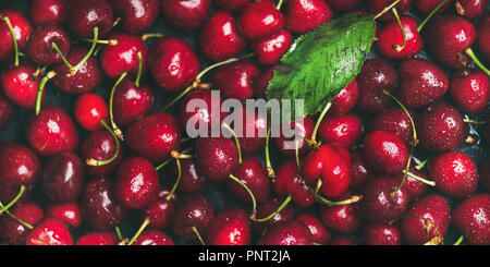 Fresh sweet cherry texture, wallpaper and background - Stock Photo