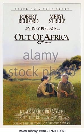 Original film title: OUT OF AFRICA. English title: OUT OF AFRICA. Year: 1985. Director: SYDNEY POLLACK. Credit: UNIVERSAL PICTURES / Album - Stock Photo