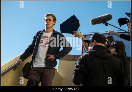 Prod DB © Lionsgate - Saban Brands -Saban Entertainment / DR POWER RANGERS de Dean Israelite 2017 USA avec Dacre Montgomery sur le tournage - Stock Photo