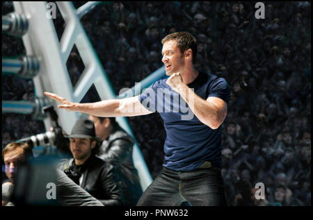 Prod DB © DreamWorks SKG - Angry Films / DR REAL STEEL de Shawn Levy 2011 USA avec Hugh Jackman science fiction, anticipation, robot - Stock Photo