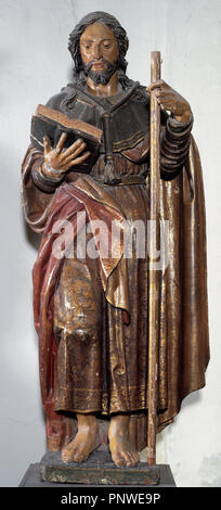 Pablo de Rojas (1549-1611). Spanish sculptor. Sculpture of Saint James Pilgrim. Cathedral of Granada. Spain. - Stock Photo