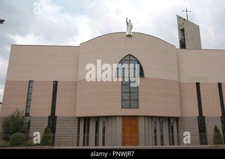 Albania. Tirana. St Paul's Cathedral. Completed in 1999. Facade. Outside. - Stock Photo