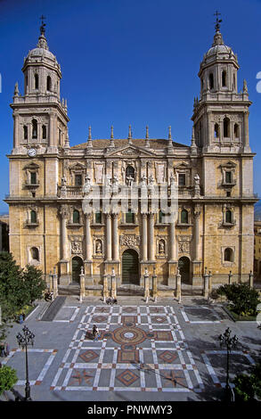 Cathedral of the Assumption of the Virgin - 16th century. Jaen. Region of Andalusia. Spain. Europe - Stock Photo
