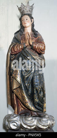 Pablo de Rojas (1549-1611). Spanish sculptor. Sculpture of Immaculate Conception. From the Church of Saint John of the Kings, Granada. Cathedral of Granada. Spain. - Stock Photo