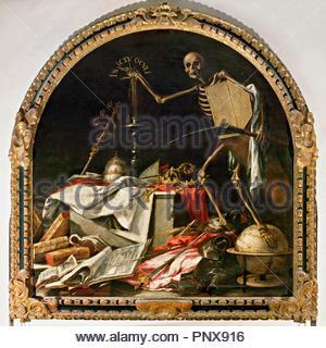 Juan de Valdés Leal / 'Allegory of Death: In Ictu Oculi', 1672, Oil on canvas, 220 x 216 cm. Museum: HOSPITAL DE LA CARIDAD. - Stock Photo