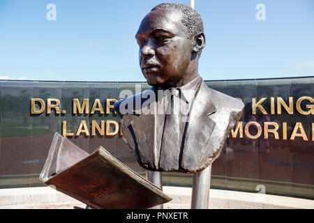 West Palm Beach Florida Dr. Martin Luther King Jr. Landmark Memorial Currie Park - Stock Photo